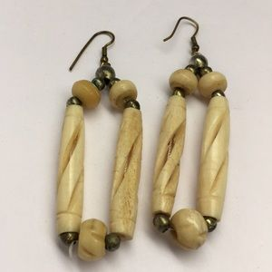 Jewelry - Hand Carved Shell Earrings